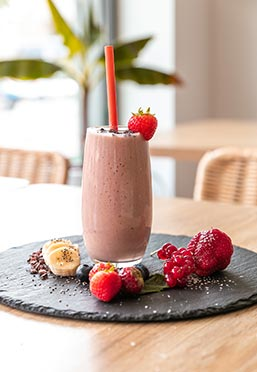 Leckerer Smoothie bei den Bowl Brothers in Neuss